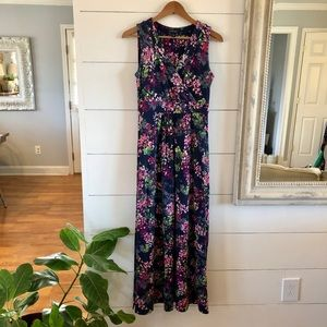 Land's End Small Floral Maxi Dress